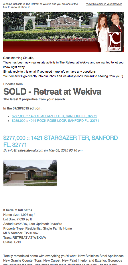 Retreat at Wekiva Sanford Home Sales Alert